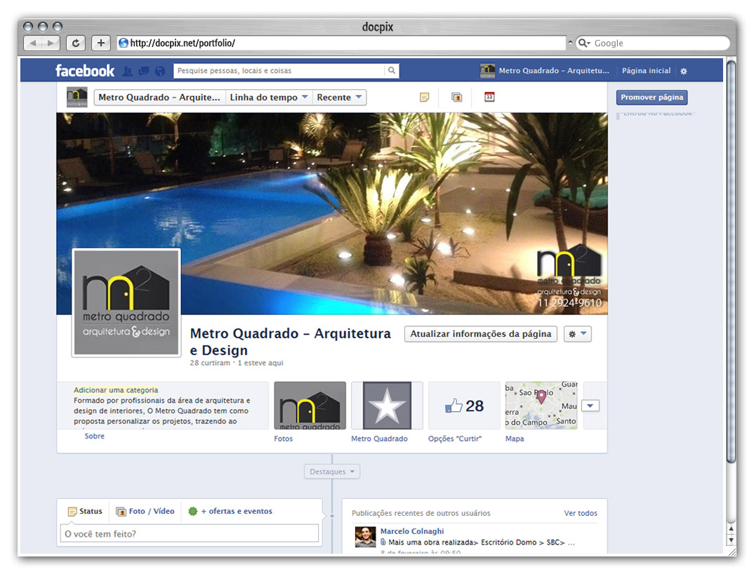 Site para empresas de arquitetura e design for O architecture facebook